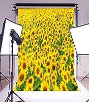 laeacco Natureテーマ3x 5ftビニール写真バックドロップひまわりフィールド風景1* 1.5M背景Studio小道具