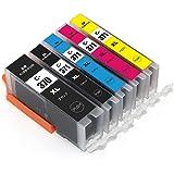 【森下問屋】BCI-370XLBK BCI-371XLBK BCI-371XLC BCI-371XLM BCI-371XLY 5色セット ISO14001/ISO9001認証 キヤノン 対応の互換インクカートリッジ 残量表示機能付