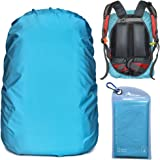 Gryps Waterproof Backpack Rain Cover with Adjustable Anti Slip Buckle Strap & Sliver Coating Reinforced Inner Layer for Campi