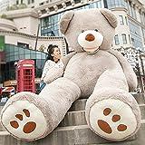 HYAKURIぬいぐるみ 特大 くま/テディベア アメリカCostCo 可愛い熊 動物 大きい/巨大 くまぬいぐるみ/熊縫い包み/クマ抱き枕/お祝い/ふわふわぬいぐるみ(260cm, グレー)
