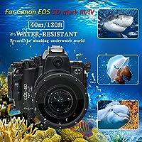 Sea Frogs Canon EOS 5D Mark III 5D Mark IV ダイビング 水中カメラケース アンダーウォーターハウジング 防水性能40m 防水プロテクター 防水ケース 防水ハウジング 保護ケース 防水プロテクター 水中撮影用 国際防水等級IPX8