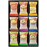 アマノフーズ バラエティギフト M‐200P 全18食(いつものおみそ汁:なめこ2食、豚汁2食、ごぼう2食、なす2食、とうふ2食、野菜2食、長ねぎ2食、ほうれん草2食/たまごスープ2食)