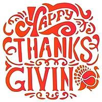 感謝祭トルコステンシル–再利用可能なスクラップブックジャーナル感謝祭壁絵画–使用ペーパープロジェクトのステンシル壁床ファブリック家具ガラス木製etc。 M