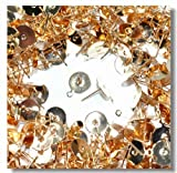 カン付き丸皿ピアス 10mm ゴールド 真鍮製 50個入り