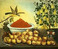 ペイントBond Still Lifeフルーツ鳥Dwarf Pearツリーポスターアート印刷llf0150