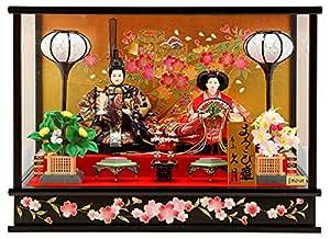雛人形 ひな人形 久月 ケース飾り 親王飾り A. 寿さくら図 h293-k-4-38-9a