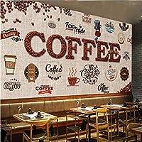 Weaeo 写真の壁紙シェードボードレトロなコーヒーカフェのラベルの壁の壁画のCoustom高品質の壁紙-200X140Cm