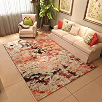 リビングルームソファカーペット、家庭用フランネルアート抽象的なラグ、ベッドルームのベッドサイドの長方形のカーペット