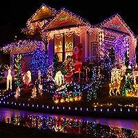 LEDソーラーライトストリングクリスマススモールライト屋外グラウンド芝生ライト中庭ガーデンランドスケーププロフェッショナル(カラー)