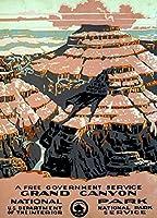 ghaynes Distributing Grand Canyonアートポスターステッカーデカール(RV国立公園Hike) サイズ: 3x 4インチ
