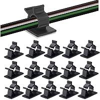 ケーブルクリップ、MAVEEK(マビーカ)4階段調節可能なケーブルホルダー コードクリップ コードフック ケーブル収納…