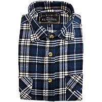 JackSmith Men's Flannelette Shirt 100% Cotton Check Authentic Flannel Long Sleeve Vintage