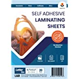 VIOLETTO Self Adhesive Laminating Sheets, Self-Seal, No Machine Needed, Letter Size, 9 x 12 Inch (20 Sheets)