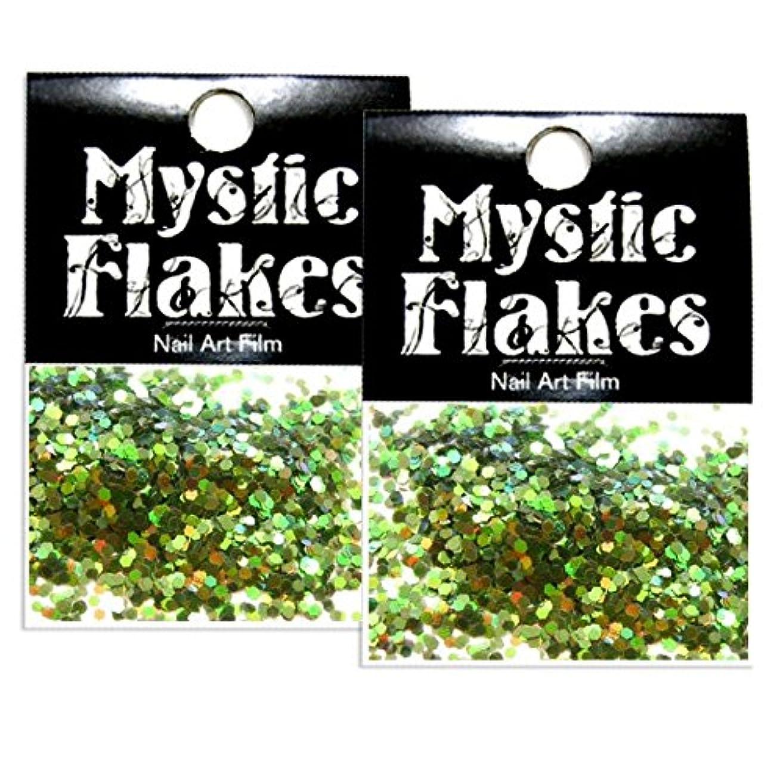 盗難たくさんによるとミスティックフレース ネイル用ストーン オーロラグリーン ヘキサゴン 1mm 0.5g 2個セット