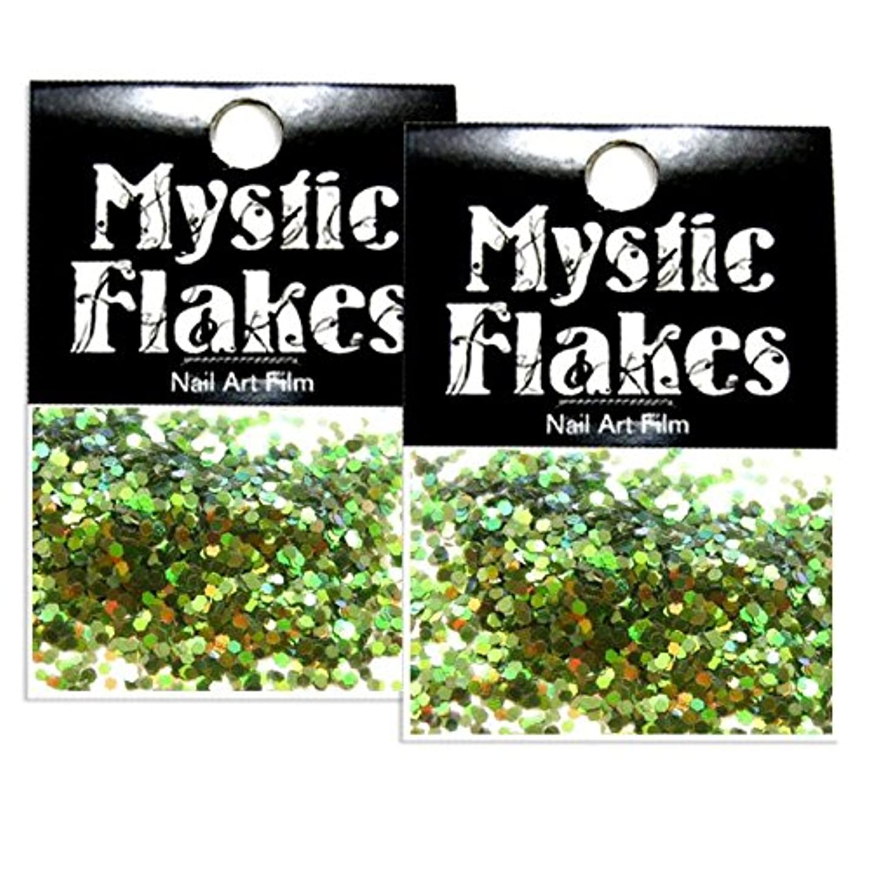 円形の壁紙可能性ミスティックフレース ネイル用ストーン オーロラグリーン ヘキサゴン 1mm 0.5g 2個セット