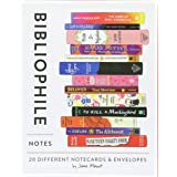 Bibliophile Notes: 20 Different Notecards & Envelopes (Bookish Gifts, Literary Stationery by Jane Mount)