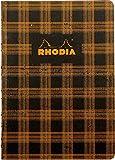 ロディア HERITAGE ヘリテージ  かがり綴じ ノートブック タータン ブラック cf117173