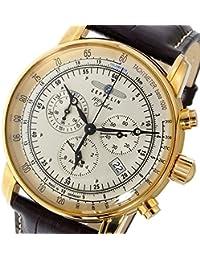 ツェッペリン 100周年記念モデル クオーツ メンズ クロノ 腕時計 7680-5 シルバー [並行輸入品]