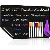 UCMD Magnetic Chalkboard for Fridge,Dry Erase Blackboard, Home Menu Grocery Shopping List,Office Daily Planner Message Board
