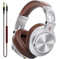 OneOdio DJ用 有線 ヘッドホン マイク付き モニターヘッドホン 密閉型 楽器練習 宅録 DTM A71 シルバ…
