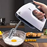 7-Speed Electric Hand Mixer Whisk Egg Beater Cake Bread Mixing Baking Kitchen