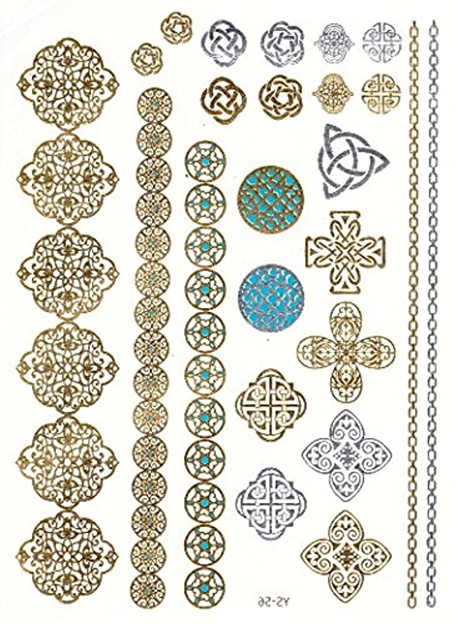 中世のロードされたよろめくフラッシュタトゥー FLASH TATTOOS タトゥーシール 31