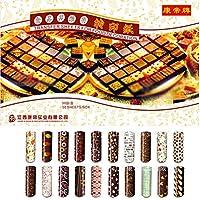新しい( 50個/セットDIYハンドメイド異なる色転送シートカラフルチョコレートPainting印刷用マットケーキデコレーションツール