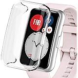 Miimall Huawei Watch Fit TIA-B09 ケース ファーウェイウォッチ Fit カバー ソフト TPU 全面保護ケース Huawei Watch Fit 専用 ケース カバー スクラッチ防止 高透過率 防爆裂 TPU材料ケース