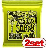 【2セット】 ERNIE BALL アーニーボール #2221 Regular Slinky (10-46) エレキギター弦 【国内正規品】