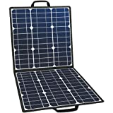 FlashFish ソーラーチャージャー ソーラーパネル充電器 100W 高変換効率22% 太陽光充電 単結晶 折りたたみ DC18V USB5V スマホ ノートパソコン ポータブル電源充電 急速充電 アウトドアー 停電 防災に大活躍