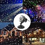 Lemonda クリスマスライト プロジェクターライト led ライト IP65防水 10-15メートルリモートコントロール 屋外 投影ランプ ロマンチック パーティー 雪花 雰囲気作り クリスマス飾りライト ステージライト 舞台照明 室内 リモコン付き 昼白色