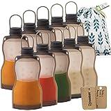 Haakaa Breastmilk Storage Bags Silicone Milk Storage Bags for Breastfeeding Reusable & Leakproof, 9oz/260ml, 10 PK