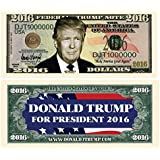 American Art Classics Set of 25 - Donald Trump 2016 Presidential Dollar Bill