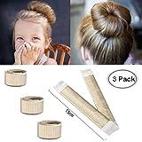 Aisonbo Hair Bun Maker, Size 5.9 inch Magic Bun Shaper Donut Hair Styling for Kids Curler Roller Dish Headbands,3 Pack,Blonde