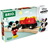 Brio 32265 Disney Mickey and Friends: Mickey Mouse Battery Train | Wooden Toy Train Set for Kids Age 3 and Up - Amazon Exclus
