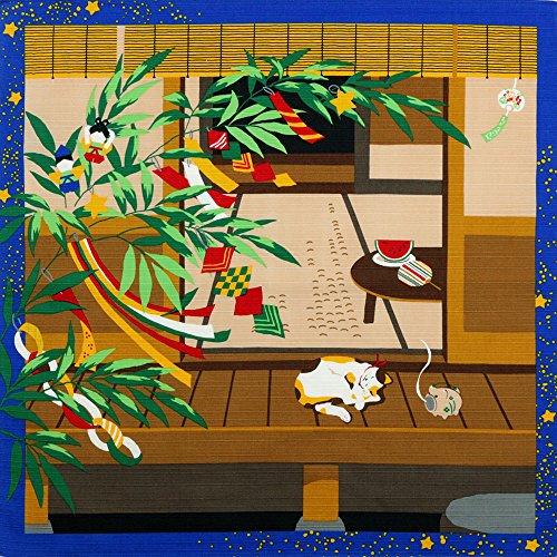 《DM便対応》 (キステ)Kisste 三毛猫みけのゆめ日記 小ふろしき 5-4-02167 7月・みけの七夕