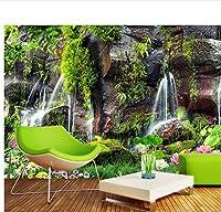 Weaeo 3D写真壁紙壁画壁の滝の滝の写真Hd風景のソファテレビの壁紙の壁3D壁紙壁画-250X175Cm