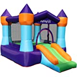 Inflatable Kids Bounce Houce with Slide Toddler Bouncy Castle with Air Blower for Indoor Outdoor Party