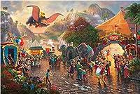 西洋絵画 ディズニー ダンボ 42x30cm トーマス キンケード 空飛ぶダンボ Disney Dumbo [並行輸入品]