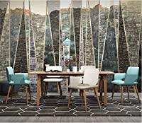 Minyose カスタム3 D壁紙手描き都市の建物の幾何学的な線ライト高級背景壁リビングルームの壁紙壁画-200Cmx140Cm