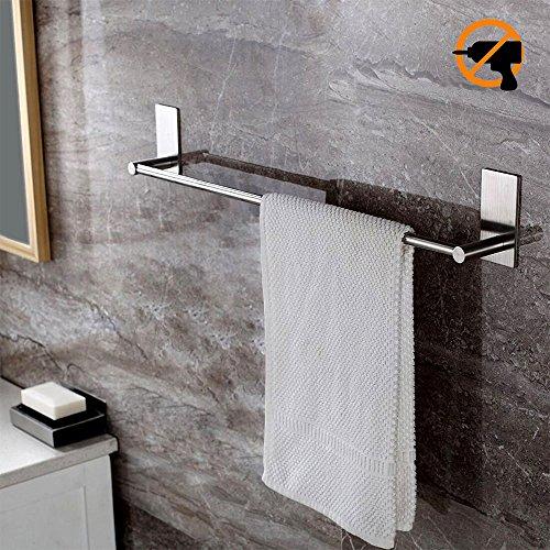 Vonten タオルバー 収納ラック タオル掛け ステンレス3Mのコロイド用、粘着性 お風呂場 キッチン 洗面所用 40CM