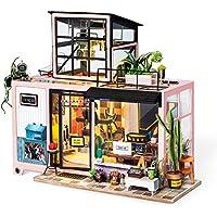 Rolife ドールハウス DIY ミニチュア Kevin's Studio/ケビンのスタジオ スタックハウス ライト 一戸建て 木製模型 (ケビンのスタジオ)