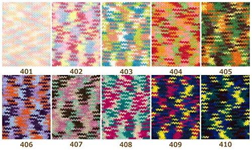 アクリル毛糸 ミニスポーツ アクリルカラフル 10色各1玉セット 元廣 1玉約35g