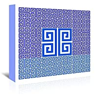 Americanflat Greek Key_Block-Americanflat-Ky Gallery Wrapped canvas 16 X 20 [並行輸入品]
