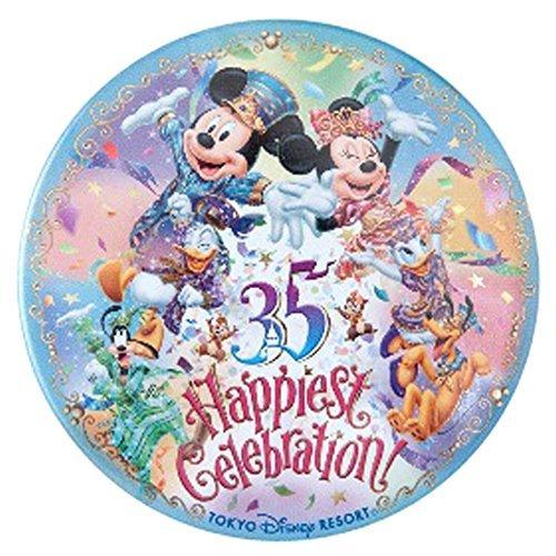 東京 ディズニー リゾート 35周年 Happiest Celebration ! 缶バッジ カン バッジ ミッキー ミニー マウス 他 ( リゾート 限定 グッズ お土産 )