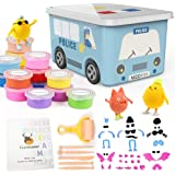 36 Colors Air Dry Clay Kit for Kids, Magic Modeling Clay Ultra Light Clay with Carton Storage Box, Sculpting Tools, Accessori