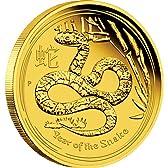 オーストラリア 2013年 第2次 十二支銀貨プルーフシリーズ <巳年蛇図> 100ドル金貨 プルーフ (CA1G30026)