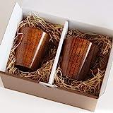 きざむ 名入れ 木製 マグカップ ペア セット 天然木 ギフト 240ml