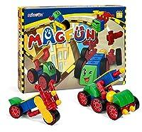 magfun- 50pc Magnetic Building Blocks 3d図形、教育玩具キッズ用