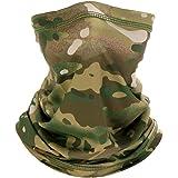 Face Scarfs Neck Gaiter Lightweight Breathable Camouflage Multifunctional Bandana Scarf Sun UV Protection Breathable Headband